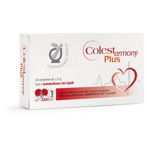 Colestarmony Plus Integratore Alimentare per Colesterolo 20 Compresse