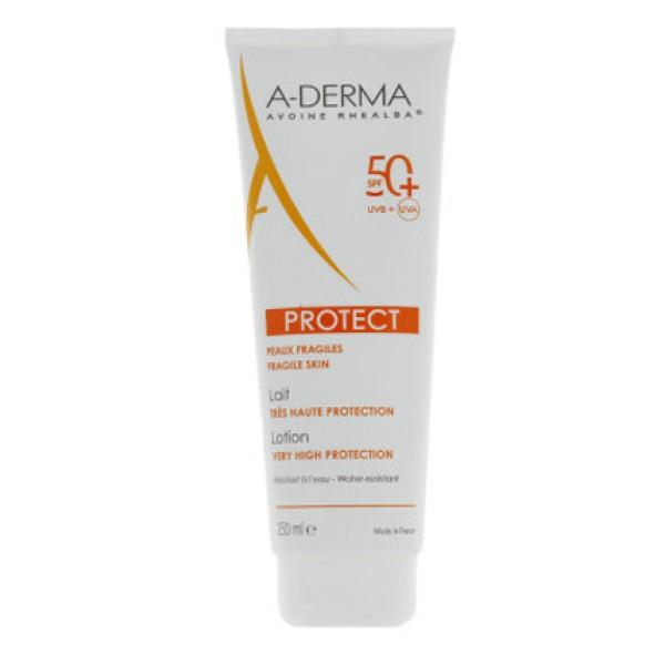 A-Derma Protect Latte Solare SPF 50+ Protezione Pelle Fragile 250 ml