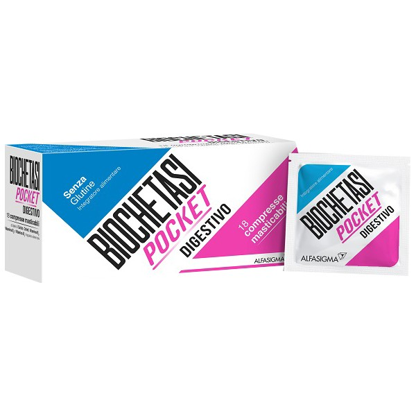 Biochetasi Pocket Integratore Digestivo e Antiacido 18 Compresse Masticabili