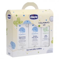 Chicco Baby Set Moments Bagnoschiuma Shampoo Pasta
