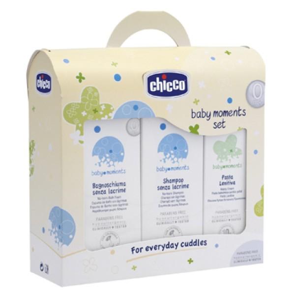 Chicco Baby Set Moments Bagnoschiuma Shampoo Pasta