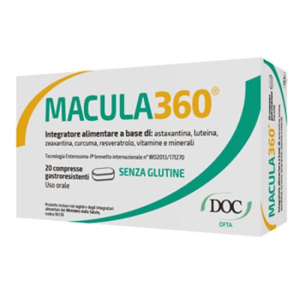 Macula 360 Integratore Alimentare Antiossidante 20 Compresse