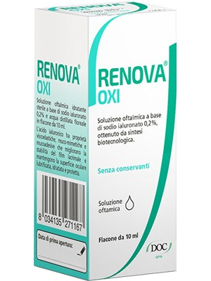 Renova Oxi Soluzione Prioculare con Acido Ialuronico 0,2% 10 ml