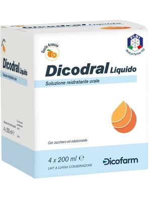 Dicodral Liquido 4 x 200 ml - Alimento Liquido Reidratante Orale