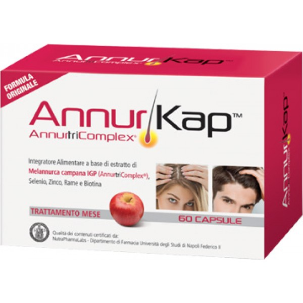 AnnurKap 60 Capsule - Integratore Caduta dei Capelli