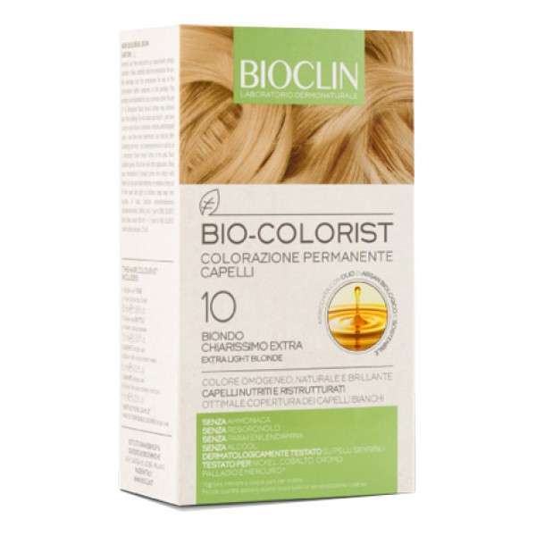 Bioclin Bio Colorist 10 Biondo Extra Chiarissimo Tintura Naturale per Capelli