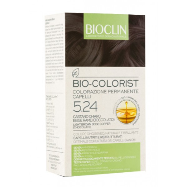 Bioclin Bio Colorist 5.24 Castano Chiaro Rame Tintura Naturale per Capelli