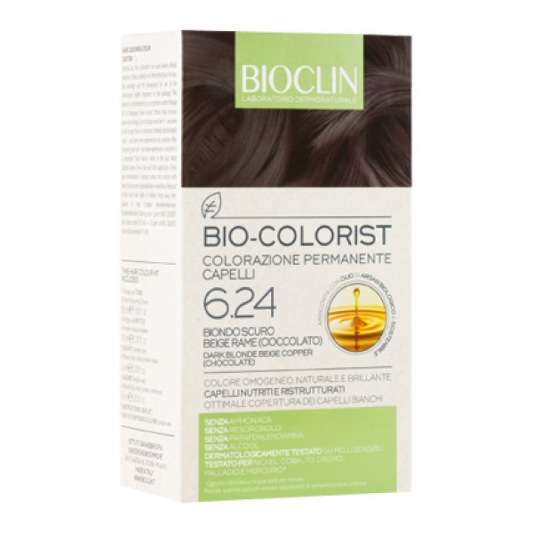 Bioclin Bio Colorist 6.24 Biondo Scuro Rame Tintura Naturale per Capelli