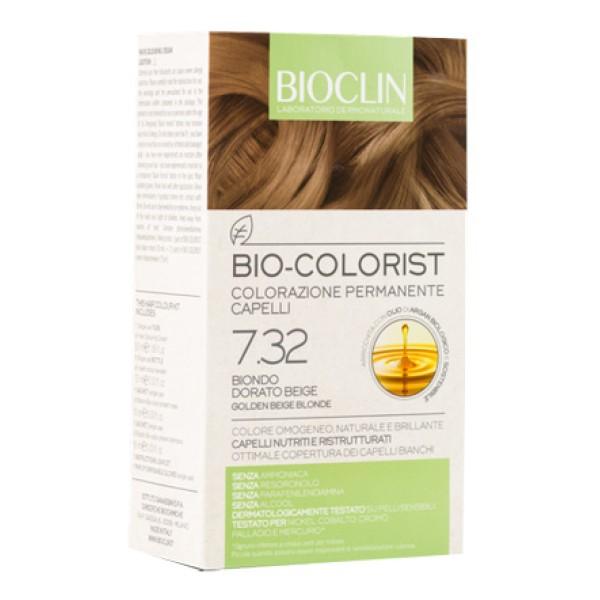 Bioclin Bio Colorist 7.32 Biondo Dorato Beige Tintura Naturale per Capelli