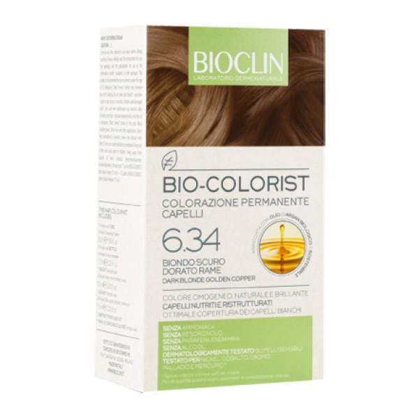 Bioclin Bio Colorist 6.34 Biondo Scuro Dorato Rame Tintura Naturale per Capelli