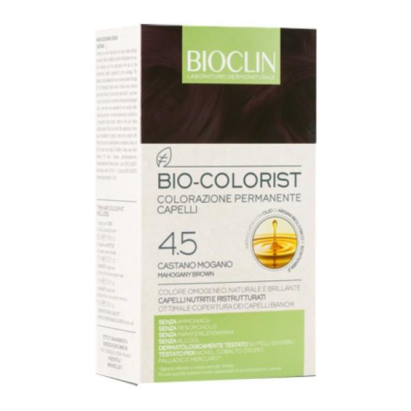 Bioclin Bio Colorist 4.5 Castano Mogano Tintura Naturale per Capelli