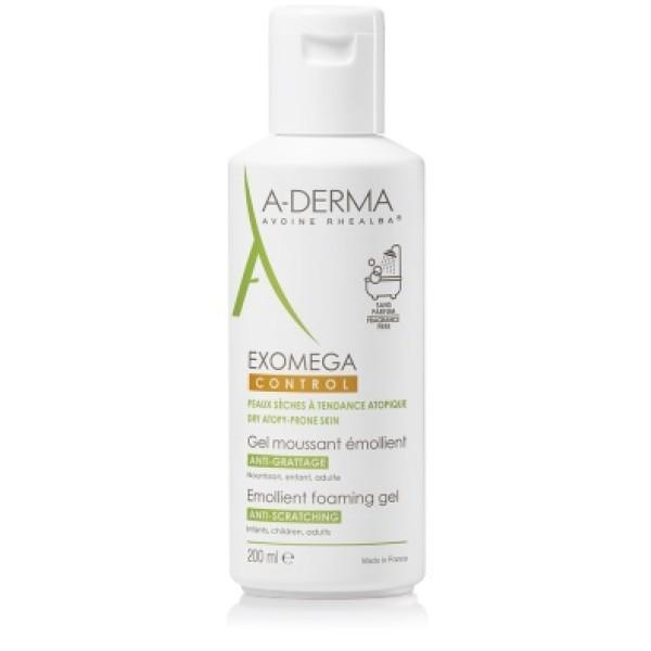 A-Derma Exomega Control Gel Detergente Emolliente Pelle Secca 200 ml