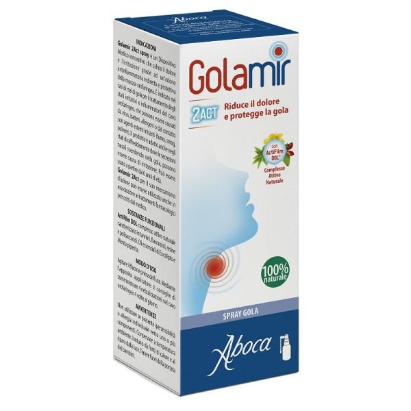 Aboca Golamir 2ACT Spray No Alcool Gola Infiammata 30 ml