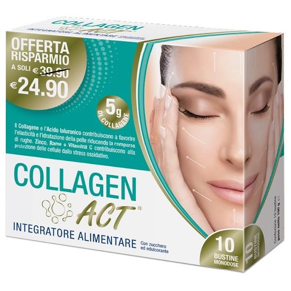 Collagen Act 10 bustine monodose   Integratore Alimentare Collagene