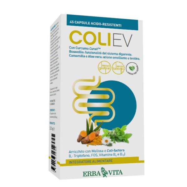 Erba Vita Coli Ev 45 Capsule - Integratore Funzionalita' del Sistema Digerente