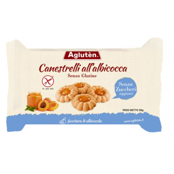 Agluten Canestrelli all' Albicocca Senza Glutine 200 grammi