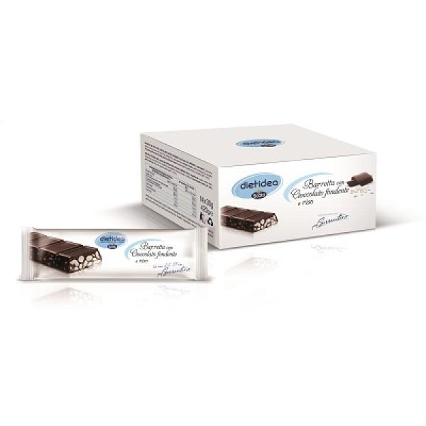 Dietidea Barretta Cioccolato Fondente con Riso 14 pezzi