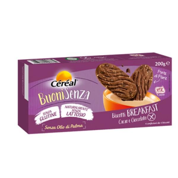 Céréal Biscotti al Cioccolato Senza Glutine e Lattosio 200 grammi