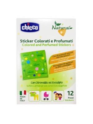 Chicco Zanza Sticker Antizanzara colorati e profumati 12 pezzi