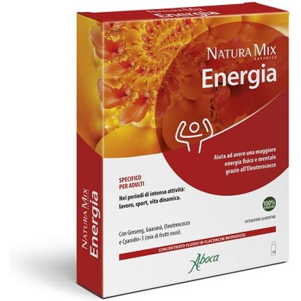 Aboca Natura Mix Advanced Energia 10 Flaconcini - Integratore Energizzante