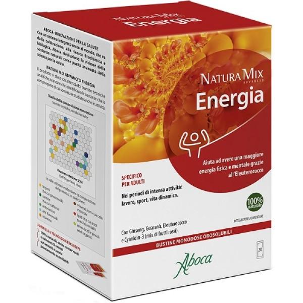 Aboca Natura Mix Advanced Energia 20 Bustine - Integratore Energizzante