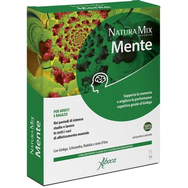 Aboca Natura Mix Advanced Mente 10 Flaconcini - Integratore Funzioni Cognitive