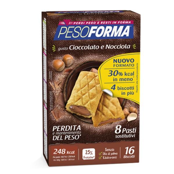 Pesoforma Biscotto Cioccolato e Nocciola 16 pezzi