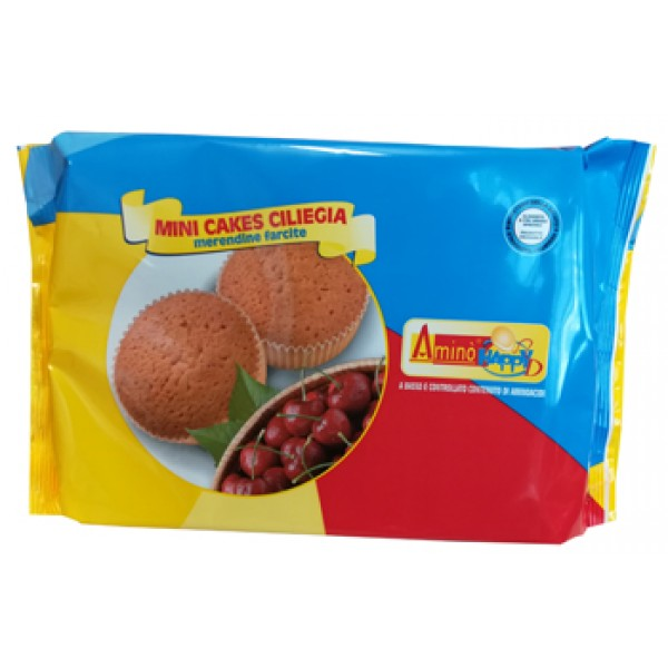 Amino' Happy D Mini Cakes Ciliegia Merendine Soffici 160 grammi