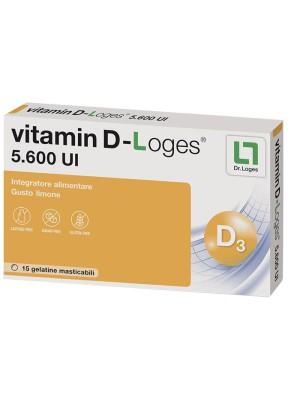 Vitamin D-Loges Gusto Limone 15 gelatine   Integratore Alimentare