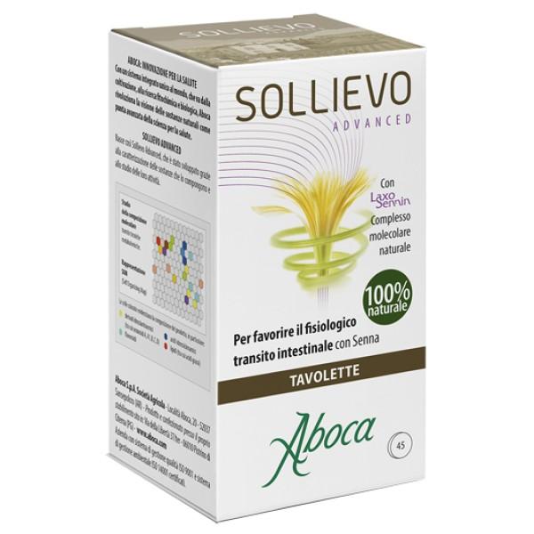 Aboca Sollievo Advanced 45 Tavolette - Integratore Transito Intestinale