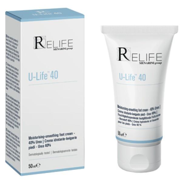 U-Life 40 Crema Idratante Piedi 50 ml
