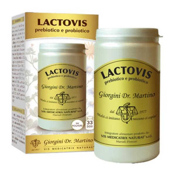 Lactovis Prebiotico e Probiotico Polvere 100 grammi Dr. Giorgini - Integratore Flora Intestinale