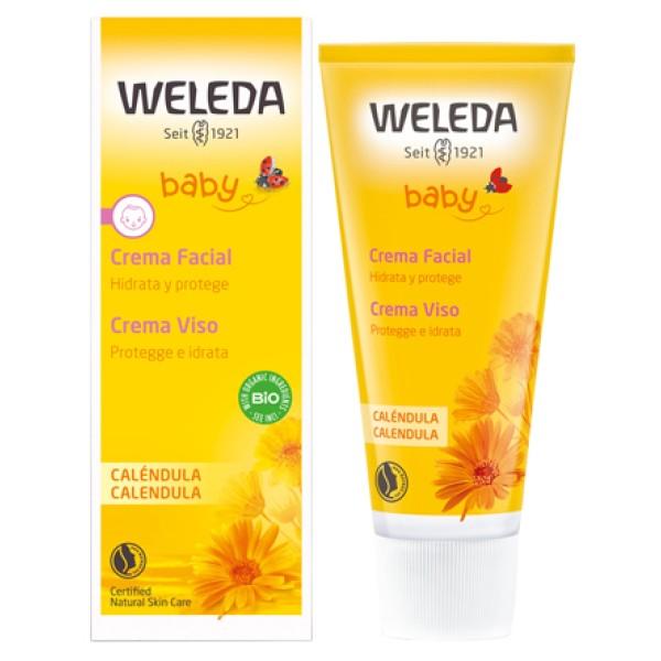 Weleda Baby Calendula Crema Viso Protettiva Idratante 50 ml