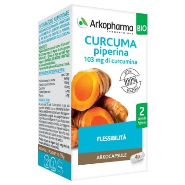 Arkocapsule Curcuma + Piperina Bio 130 Capsule - Integratore Articolare