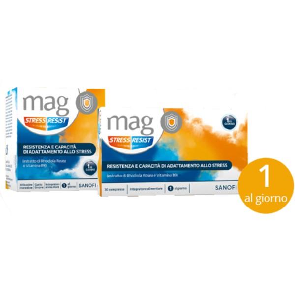 Mag Stress Resist Integratore con Magnesio e Rodhiola 30 Stick Orosolubili