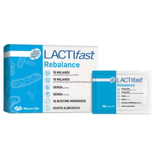 LactiFast Rebalance Viti Probiotici e Fermenti Lattici 10 Buste Monodose