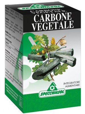 Specchiasol Carbone Vegetale Integratore Alimentare 64 Capsule