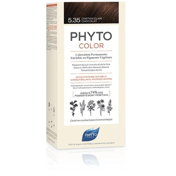 Phytocolor 5.35 Castano Chiaro Cioccolato - Tintura Permanente per Capelli