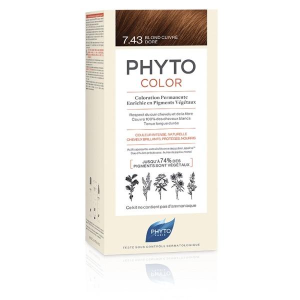 Phytocolor 7.43  Biondo Ramato Dorato - Tintura Permanente per Capelli