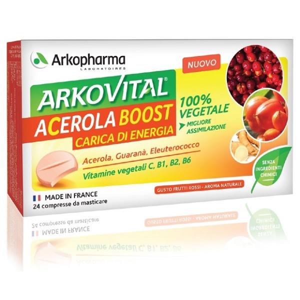 Arkovital Acerola Boost 24 Compresse - Integratore Energetico