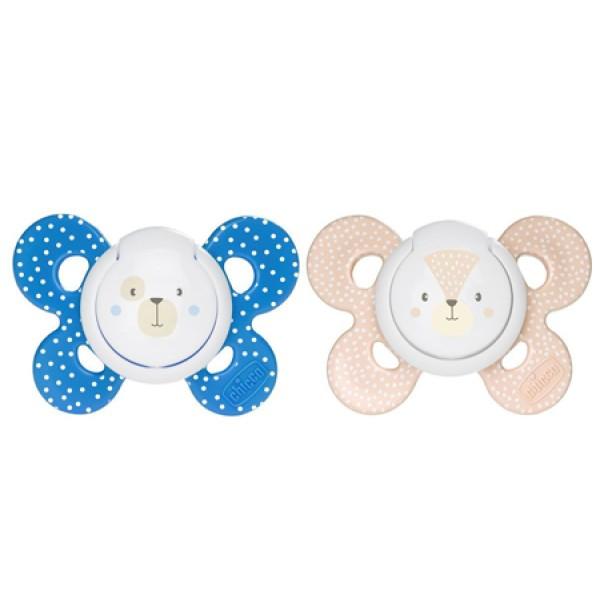 Chicco Succhietto Physio Comfort Silicone Boy  6 - 12 mesi 2 pezzi