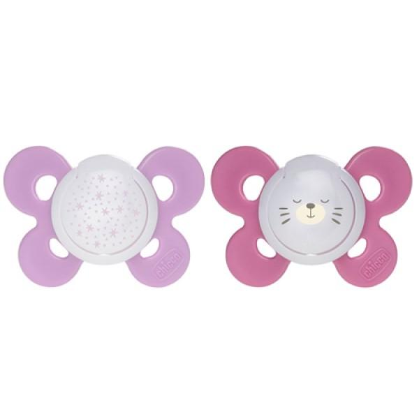 Chicco Succhietto Physio Comfort Lumi Silicone 16 - 36 mesi 2 pezzi