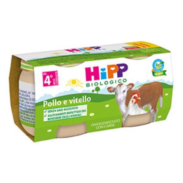 Hipp Bio Omogeneizzato Pollo e Vitello 4 x 80 grammi