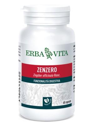 Erba Vita Zenzero 60 Capsule - Integratore Digestivo 500 mg