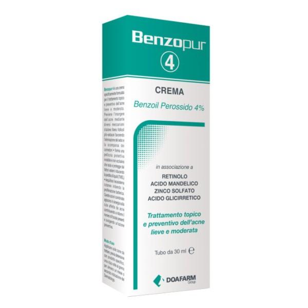 Benzopur 4 Crema Trattamento Acne 30 ml