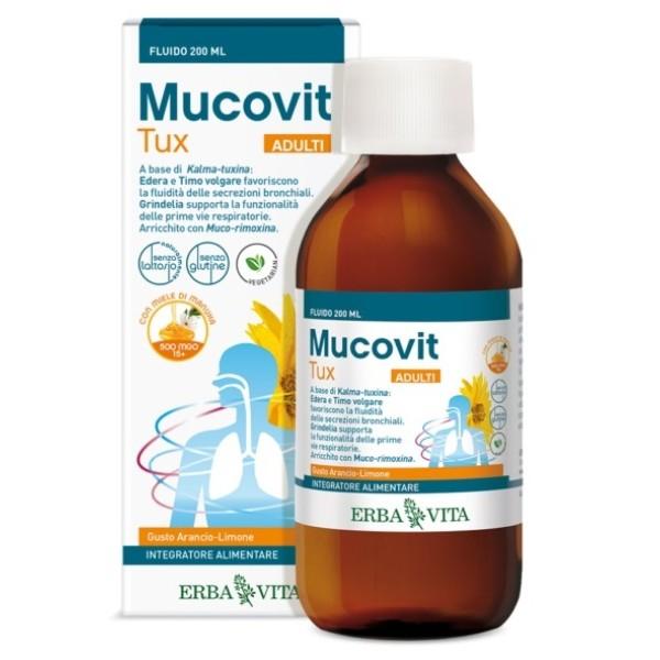 Erba Vita Mucovit Tux Fluido Adulti 200 ml - Integratore Alimentare