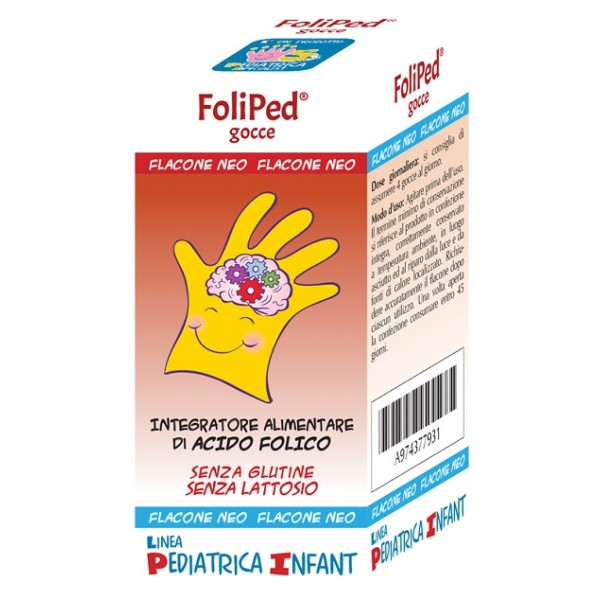 Foliped Gocce 5 ml - Integratore Acido Folico Bambino