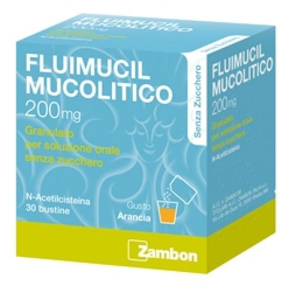 Fluimucil Mucolitico 200mg Senza Zucchero 30 Bustine
