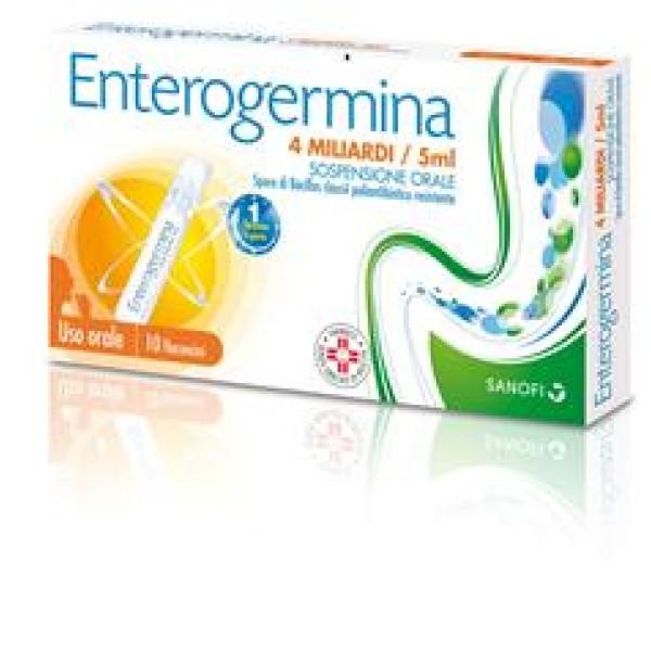 Enterogermina 4 Miliardi/5ml Bacillus Clausii 10 Flaconcini