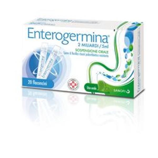 Enterogermina 2 Miliardi/5ml Bacillus Clausii 20 Flaconcini